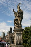 Charles Bridge_ statue Stock Photography