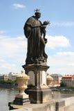 Charles Bridge_ statue Stock Photos