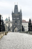Charles Bridge. Statues on the Charles Bridge in Prague Royalty Free Stock Photos