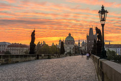 Charles Bridge at Sunrise Royalty Free Stock Photo