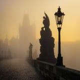 Charles Bridge sunrise, Prague, Czech republic Royalty Free Stock Photos