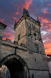 Charles Bridge tower Stock Photos