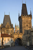 Charles bridge tower in Prague, Czech Republic.  Royalty Free Stock Images