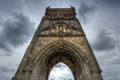 The Charles Bridge Tower in Prague, Czech Republic Stock Photos
