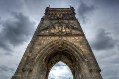 The Charles Bridge Tower in Prague, Czech Republic Stock Photos