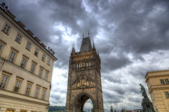 The Charles Bridge Tower in Prague, Czech Republic Royalty Free Stock Image