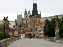 Charles Bridge Tower Prague Royalty Free Stock Photography