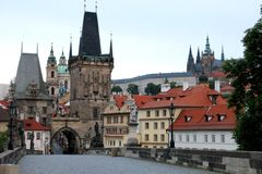 Charles Bridge Tower Prague Stock Image
