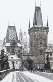 Charles bridge tower Stock Photo