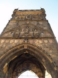 Charles Bridge Towers. A tower from the Charles Bridge in Prague Stock Photos