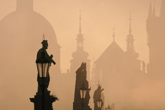 Charles bridge, towers of the old town Royalty Free Stock Photography