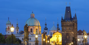 Charles bridge, towers of the old town Stock Photography