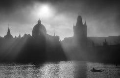 Charles Bridge Towers, Praga, repubblica Ceca Immagine Stock Libera da Diritti