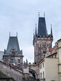 Charles Bridge Towers Stock Images