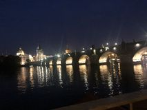 Charles Bridge van praha royalty-vrije stock foto