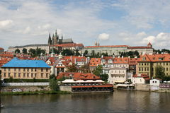 Charles Bridge_view of castle Royalty Free Stock Images
