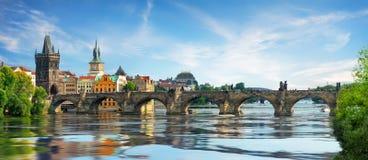 Charles bridge on Vltava royalty free stock images