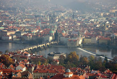 Charles Bridge on the Vltava Stock Photography