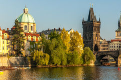 Charles Bridge and the Vltava River. Royalty Free Stock Image