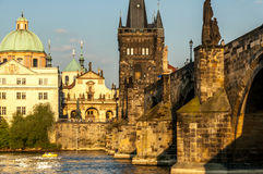 Charles Bridge and the Vltava River. Royalty Free Stock Photography