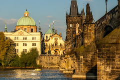 Charles Bridge and the Vltava River. Royalty Free Stock Photos