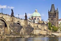 Charles bro i Prague Arkivbilder