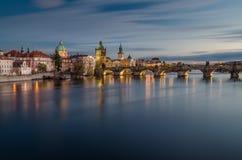Charles bro, Prague, Tjeckien Arkivfoton