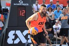 Charles Bronchard - basquetebol 3x3 Imagem de Stock