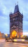 Charles-brug met toren, Praag Stock Foto