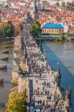 Charles-brug, Praag stock afbeelding