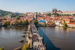 Charles-brug, Praag royalty-vrije stock afbeeldingen