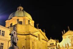 charles cesarza Prague statua Fotografia Royalty Free