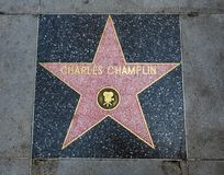 Charles Champlin-` s Stern, Hollywood-Weg des Ruhmes - 11. August 2017 - Hollywood Boulevard, Los Angeles, Kalifornien, CA Lizenzfreie Stockbilder