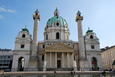 Charles church in Vienna Stock Image