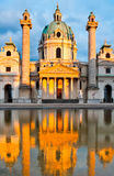 Charles Church in Vienna, Austria Royalty Free Stock Photos