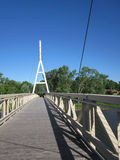 Charles City Iowa Suspension Bridge Stock Photo
