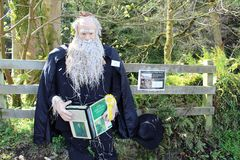 Charles Darwin, festival do espantalho de Wray, Lancashire foto de stock royalty free