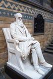 Charles Darwin monument, nationellt historiemuseum, London Arkivbilder