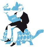 Charles Darwin-Naturwissenschaftler, die Entwicklungsvektorillustration stock abbildung