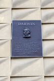 Charles Darwin Plaque in Edinburgh Stockbild