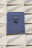 Charles Darwin Plaque in Edinburgh Stock Image