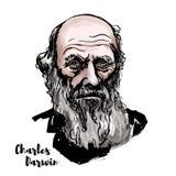Charles Darwin Portrait illustrazione di stock