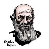 Charles Darwin portret ilustracji
