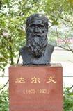 Charles Darwin Statue Stock Photo