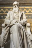 Charles Darwin Statue at the Natural History Museum in London. London, UK - September 27th 2018: A statue of famous naturalist, geologist and biologist Charles royalty free stock photography