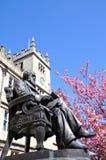 Charles Darwin Statue Shrewsbury Arkivbilder