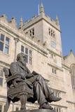 Charles- Darwinstatue, Shrewsbury Stockbild