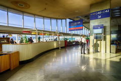 Charles de Gaulle Airport inre Fotografering för Bildbyråer