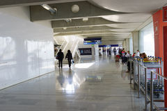 Charles de Gaulle Airport interior Royalty Free Stock Photography