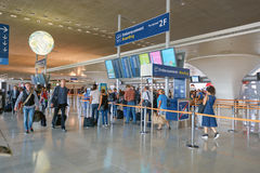 Charles de Gaulle Airport Stock Photo